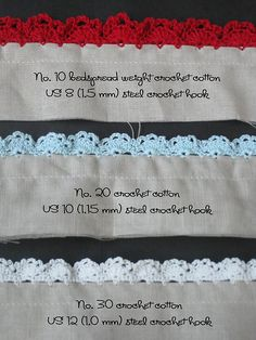Crochet Eyelet Lace Edging with Pattern