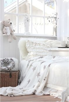 My little Taylor's room one day when she's older.... Lol. The white would last about two seconds now..... Maybe Nana just likes it.