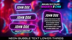 Buy Neon Bubble Text Lower Thirds by MondayMotion on VideoHive. Party Font, Lower Thirds, Lorem Ipsum, Caption, Rave, Bubbles, Glow, 10 Seconds, Neon Signs