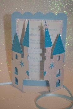 12 Disney Frozen Invitations  Princess Castle 3D by PoshMyParty