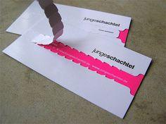 interaktive Verpackungsmaterialien Visitenkarte