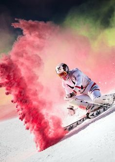 Marcel Hirscher performing at Reiteralm, Austria. by Red Bull Photography on Little Girl Photography, Sport Photography, Red Bull, Go Skiing, Ski Racing, Crazy Colour, Ski And Snowboard, World Of Color, Extreme Sports