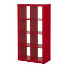 EXPEDIT Reol - højglans rød  - IKEA