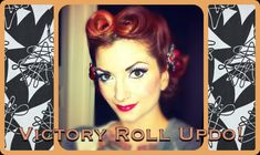 Vintage Hair Victory Roll Updo Tutorial by CHERRY DOLLFACE