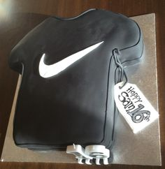 Classic NIKE Swoosh Tee to celebrate Sam's 16th birthday.  Chocolate cake filled with cookies 'n cream ganache.
