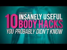 Awesome Health Tricks You Can Teach To Your Body