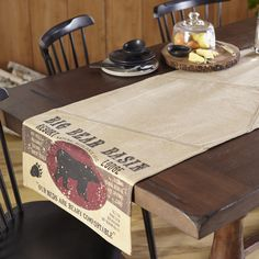 Black Moose Table Runner 72 Inch By Olivias Heartland 100% Cotton Cabin  Decor #OliviasHeartland | Lodge Living | Pinterest | Rustic Placemats,  Heartland And ...