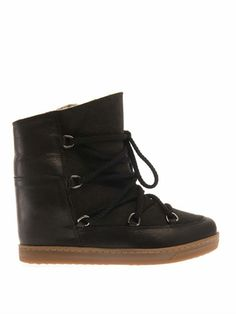best sneakers e4423 0961f Isabel Marant Nowles leather wedge snow boots Isabel Marant