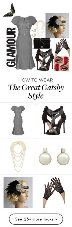 """vintage #2"" by delpilardiazfiorela on Polyvore featuring WithChic, Chanel, Goody and vintage Great Gatsby Fashion, 20s Fashion, The Great Gatsby, Gatsby Style, Chanel, Glamour, Polyvore, How To Wear, Vintage"