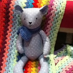 Another ted bear from pattern by Mandy shaw of dandelion desighns