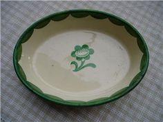 Grön Pyro, liten karott från Gustafsberg
