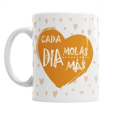 Taza Mamá cada Día Molas Más - La taza personalizada más guay para las mamis más molonas - ideal para regalar en su día o cumpleaños