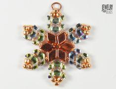 Christmas snowflake made from Arrow, Daimonduo and TOHO beads Christmas Snowflakes, Arrow, Beads, Google Search, Jewelry, Beading, Jewlery, Jewerly, Schmuck