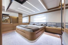 Pershing Yacht - Pershing 82' bedroom Luxury Yacht Interior, Luxury Yachts, Yacht Boat, Pontoon Boat, Pershing Yachts, Super Yachts, Power Boats, Luxury Travel, Bunk Beds