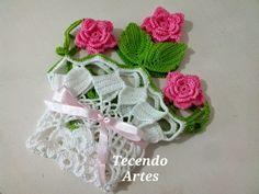 Tecendo Artes em Crochet: Centro de Mesa Primavera - Mais um Rosa!