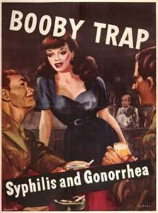 LOL..World War 2 poster. Beware of the busty foreign woman.