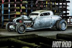 Visit The MACHINE Shop Café... ❤ Best of Hot Rod @ MACHINE ❤ (1934 Ford Twin-Turbo Big-Block Coupe - via Hot Rod Magazine)