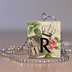 Scrabble Pendant  Jewelry  Alphabet Letter R  by MaDGreenCreations, $7.49