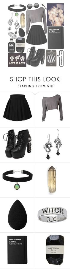 """""""a l t e r n a t i v e p r i n c e s s (grunge/alternative) rtd"""" by madmaxx01 ❤ liked on Polyvore featuring John Hardy, Topshop, beautyblender, Killstar and Cassia"""