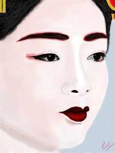 Modern Geisha - Limited Edition of 10. Digital Painting by GregWatkissArt on Etsy