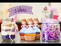 DIY | 3 IDEAS DE POSTRES | PRINCESITA SOFÍA | MIS PASTELITOS - YouTube