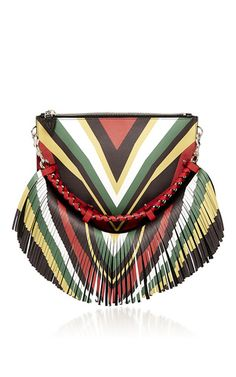Small gia p tiger shoulder bag in printed calf hair by ELENA GHISELLINI for Preorder on Moda Operandi