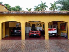 The three-car garage is perfect for storing your sports car and boat.