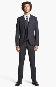 All suit pieces under $300: Topman Jacket, Waistcoat, Dress Shirt & Trousers