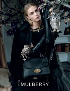 The English countryside proved the perfect background for Mulberry's campaign for fall 2013. See the brand's newest ads featuring Cara Delevingne.