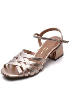 Sandália Vizzano Metalizada Rosa - Marca Vizzano Sandals, Shoes, Products, Fashion, Pink, Glow, Top Coat, Weather, Brazil