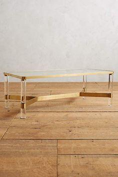Oscarine Lucite Coffee Table, Rectangle - anthropologie.com