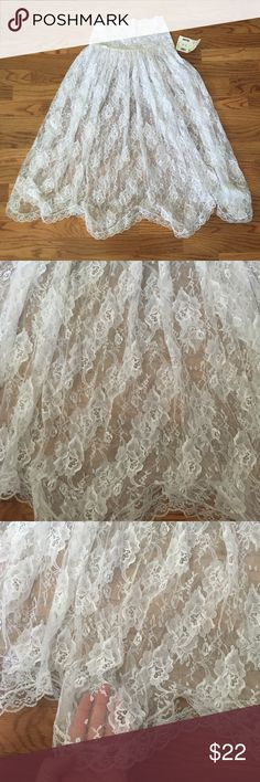 Adorable Sheer lace skirt Says size medium but will fit small-medium Skirts
