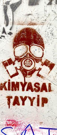 Taksim Gezi Park Protest kimyasal Tayyip  #streetart