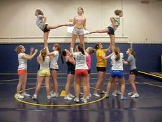 Arabesque, hitch, heel stretch While in the original phases regarding cheerleading the activity was only Cheer Dance Routines, Cheer Moves, Cheer Jumps, Cheer Workouts, Cheerleading Workouts, Cheerleading Videos, High School Cheerleading, Cheerleading Cheers, Cheer Pyramids