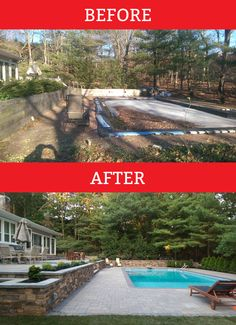 @cambridgepavers pool transformation we did in Melville, NY!