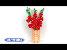 Gladiolus of balloons Balloon Hat, Balloon Flowers, Balloon Animals, Balloon Bouquet, Animal Balloons, Ballon Crafts, Twisting Balloons, Fruit Animals, Gladiolus Flower