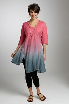 Henri Hand-Dyed Tunic: Cynthia Ashby: Linen Tunic - Artful Home  doesn't link but what a pretty top!