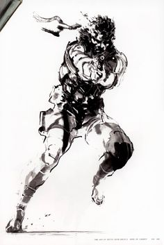 Metal Gear Solid 2 Concept Art - Solid Snake Concept Art