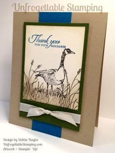 Unfrogettable Stamping | QE thank you card featuring the Wetlands stamp set by Stampin' Up! for week of 2015-07-06