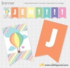 Up Up and Away Theme Banner  Personalized by ALittlePixel on Etsy, $15.00