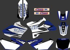 0025 New Style TEAM GRAPHICS&BACKGROUNDS DECALS STICKERS Kits for YAMAHA YZ85 2002 2003 2004 2005 2006 2007 -2014