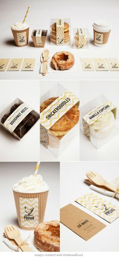 Never trust a skinny baker. Let's go #packaging PD  created via https://www.behance.net/gallery/PROVO-BAKERY/3622205