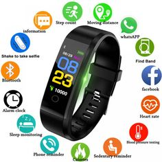 """Best Sale Shop - Buy """"LIGE New Smart Watch Men Women Heart Rate Monitor Blood Pressure Fitness Tracker Smartwatch Sport Smart Bracelet for ios android"""" from category """"Consumer Electronics"""" for only USD. Fitness Tracker, Fitness Sport, Fitness Goals, Health Fitness, Men Health, Health Exercise, Gym Fitness, Bracelet Sport, Smart Bracelet"""