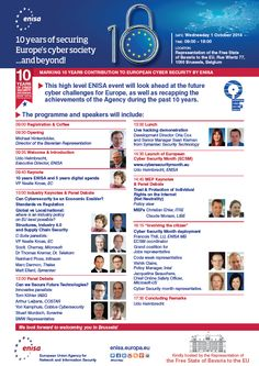 ENISA High Level Event 2014 and European Cyber Security Month launch Free State, High Level, 10 Years, Cyber, Product Launch, Events, Europe