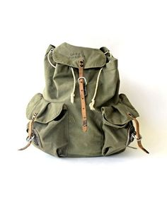 Canvas backpack by jami