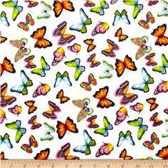 Minky Butterflies White