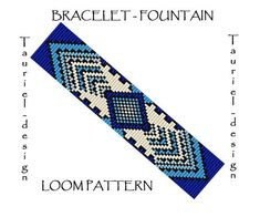 Embroidery Bracelets Looking for your next project? You're going to love Fountain - loom bracelet pattern by designer Tauriel-design. Loom Bracelet Patterns, Bead Loom Bracelets, Bead Loom Patterns, Bracelet Designs, Beading Patterns, Embroidery Patterns, Craft Patterns, Seed Bead Jewelry, Wristlets