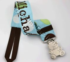 Personalized Pacifier Clip / great for baby shower gifts/ baby gift. $13.95, via Etsy.