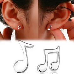 Add a touch of music to your day wearing these dainty musical notes.. These…