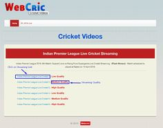 webcric live cricket streaming